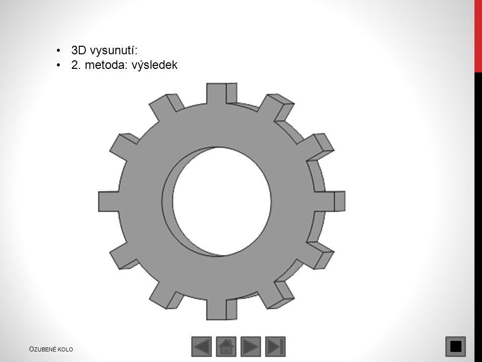3D vysunutí: 2. metoda: výsledek O ZUBENÉ KOLO