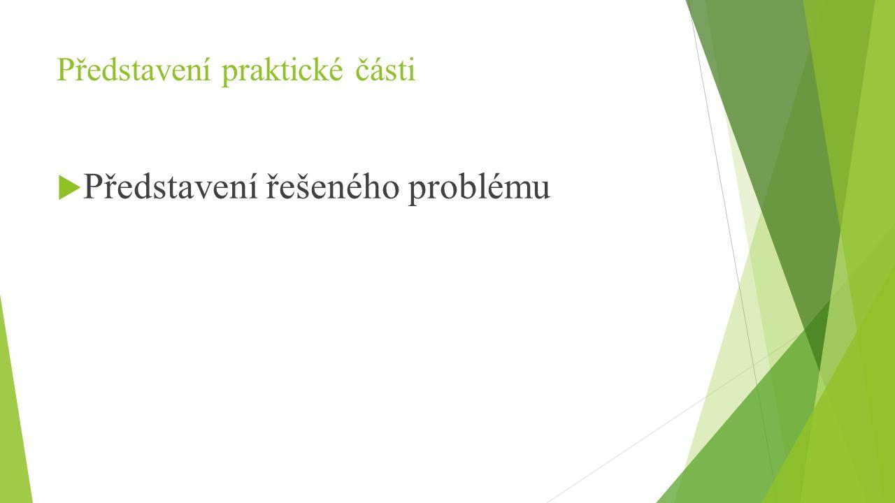 Představení praktické části  Představení řešeného problému