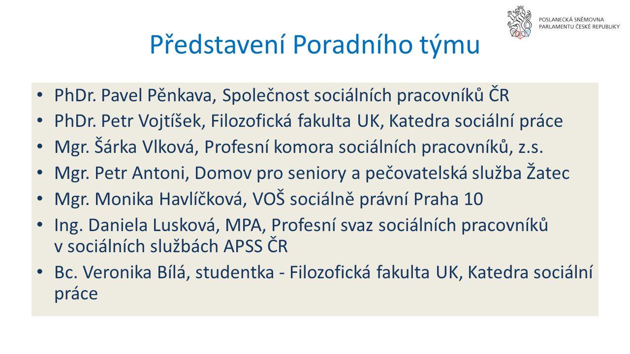 Představení Poradního týmu PhDr. Pavel Pěnkava, Společnost sociálních pracovníků ČR PhDr.