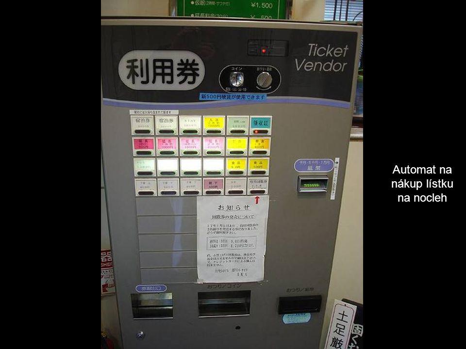 Automat na nákup lístku na nocleh