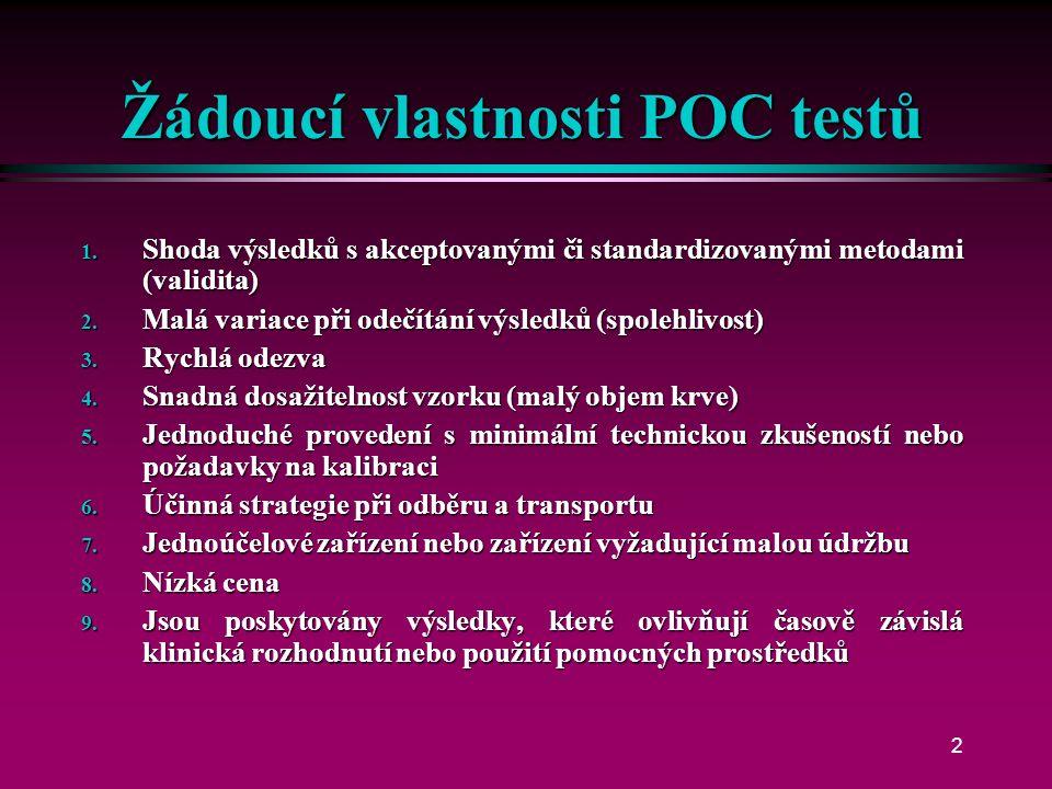 Přehled elektrochemických analyzátorů pro POCT Petr Štern Petr Štern KKB Praha KKB Praha