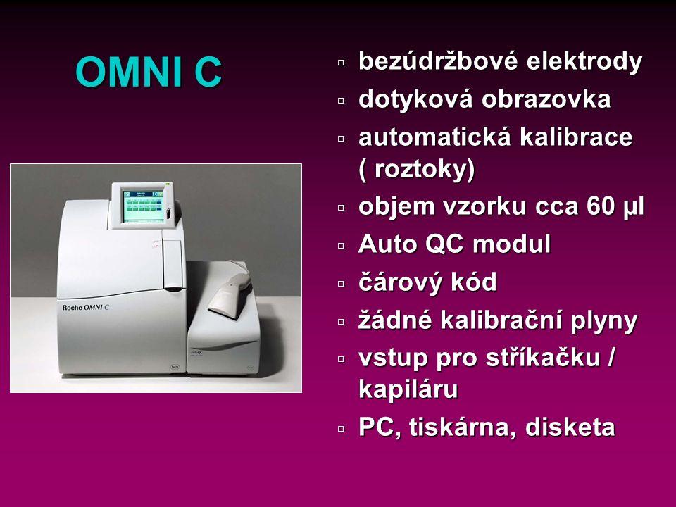 24 OMNI C Měřené parametry ú Měřené parametry ü Modul krevních plynů: pH, pCO 2, pO 2 ü Modul hemoglobin: tHb, Hct, SO 2 ü Modul ISE : Na +, K +, Cl -, iCa