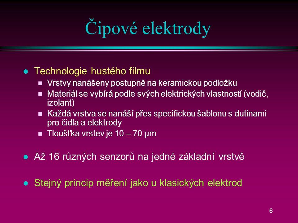 5 Uspořádání elektrod
