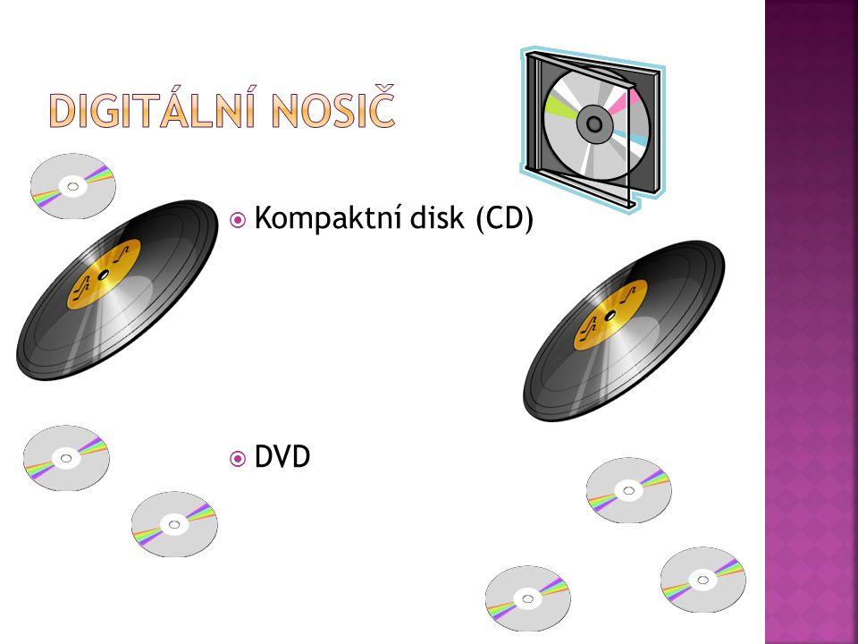  Kompaktní disk (CD)  DVD