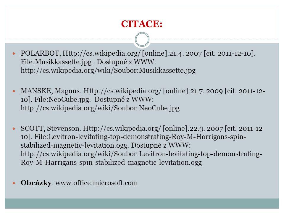 CITACE: POLARBOT, Http://cs.wikipedia.org/ [online].21.4.