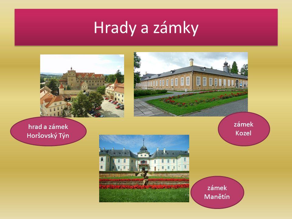 Hrady a zámky hrad a zámek Horšovský Týn zámek Kozel zámek Manětín