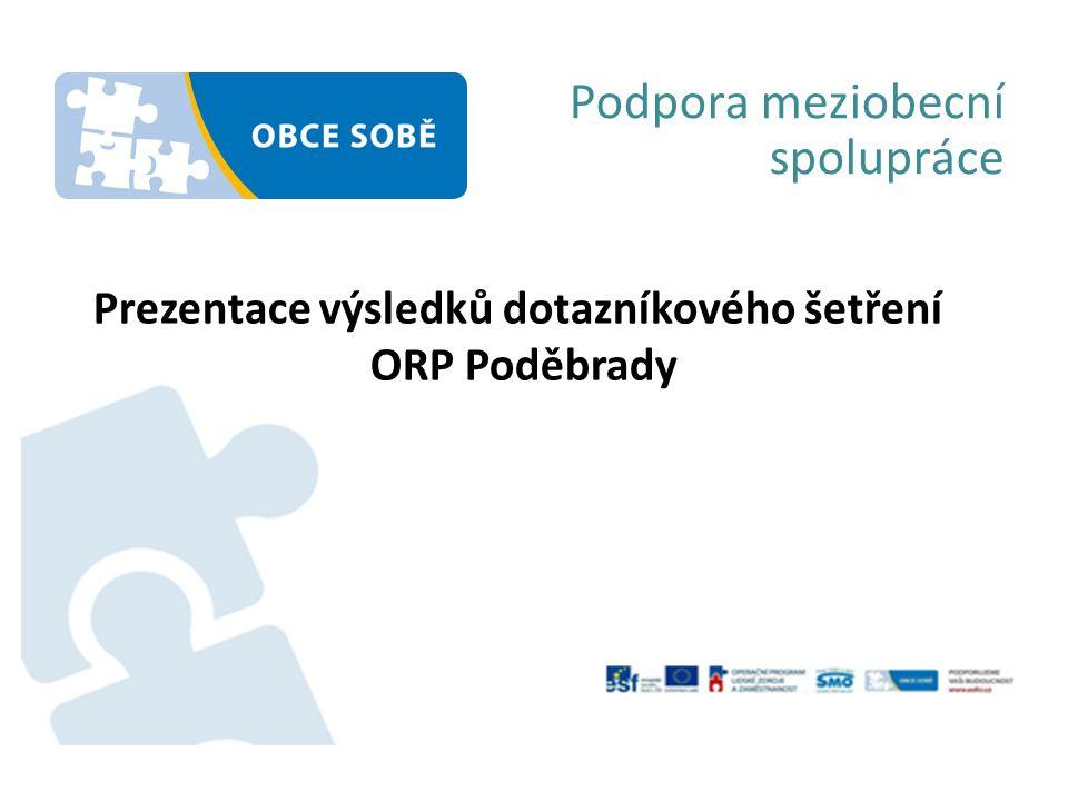 Podpora meziobecní spolupráce Prezentace výsledků dotazníkového šetření ORP Poděbrady