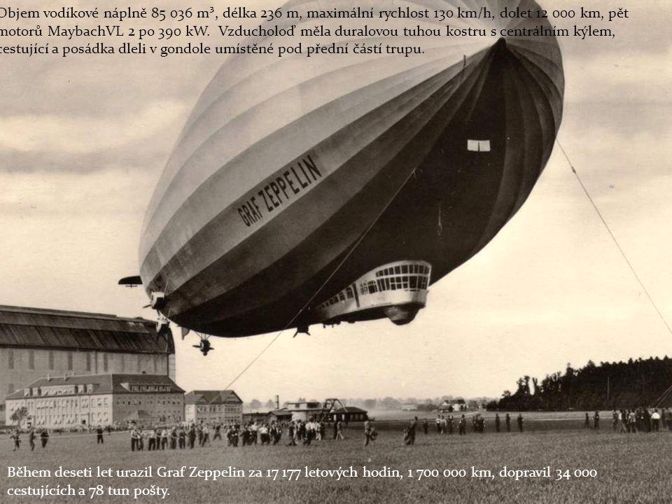 Graf Zeppelin při transportu z hangáru se připravuje na svůj první let dne 18.
