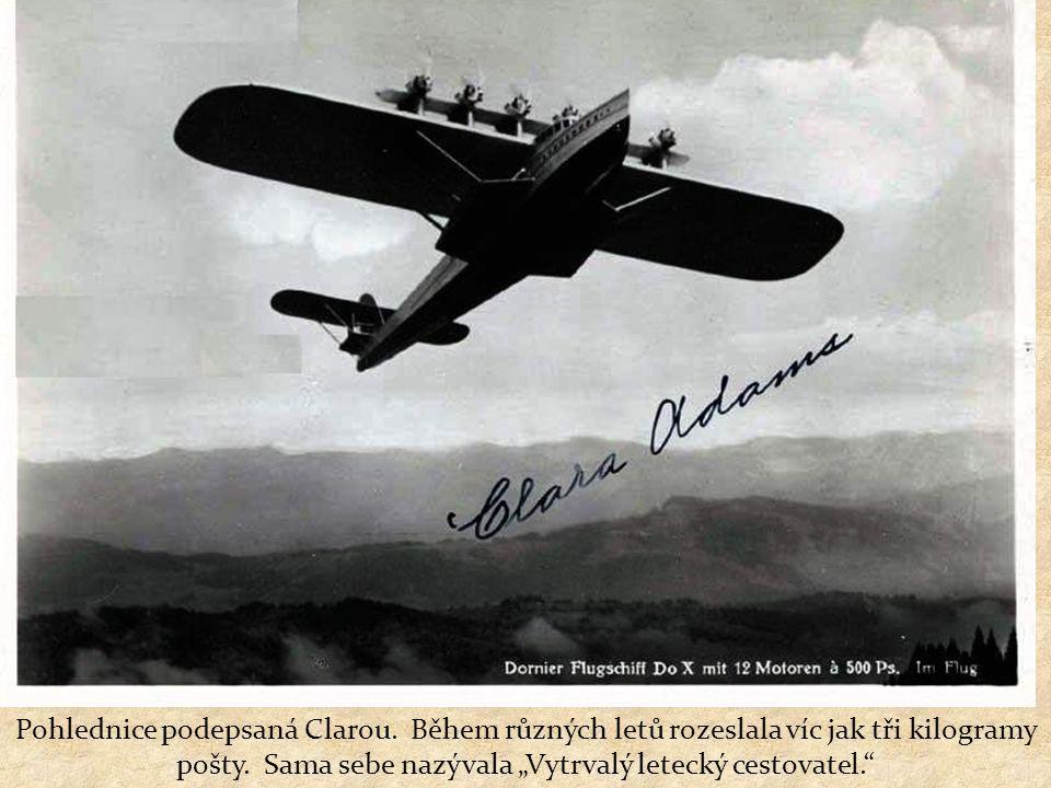 Clara Adams se také zúčastnila inauguračního letu vzducholodi Hindenburg v roce 1936.