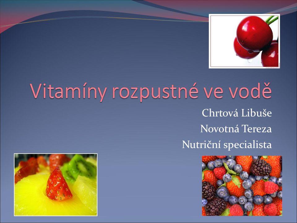 Chrtová Libuše Novotná Tereza Nutriční specialista