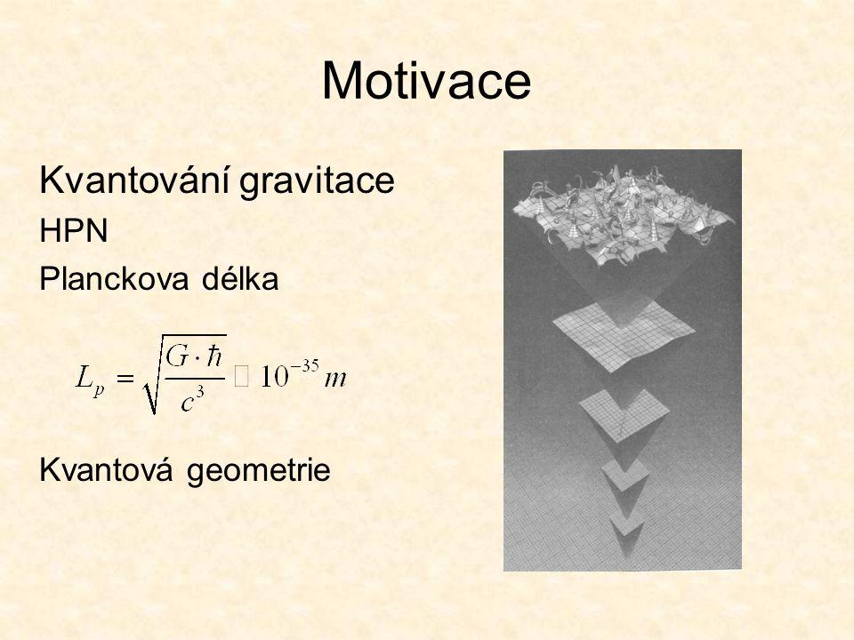 Motivace Kvantování gravitace HPN Planckova délka Kvantová geometrie
