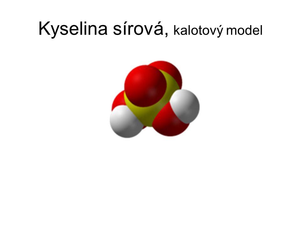 Kyselina sírová, kalotový model