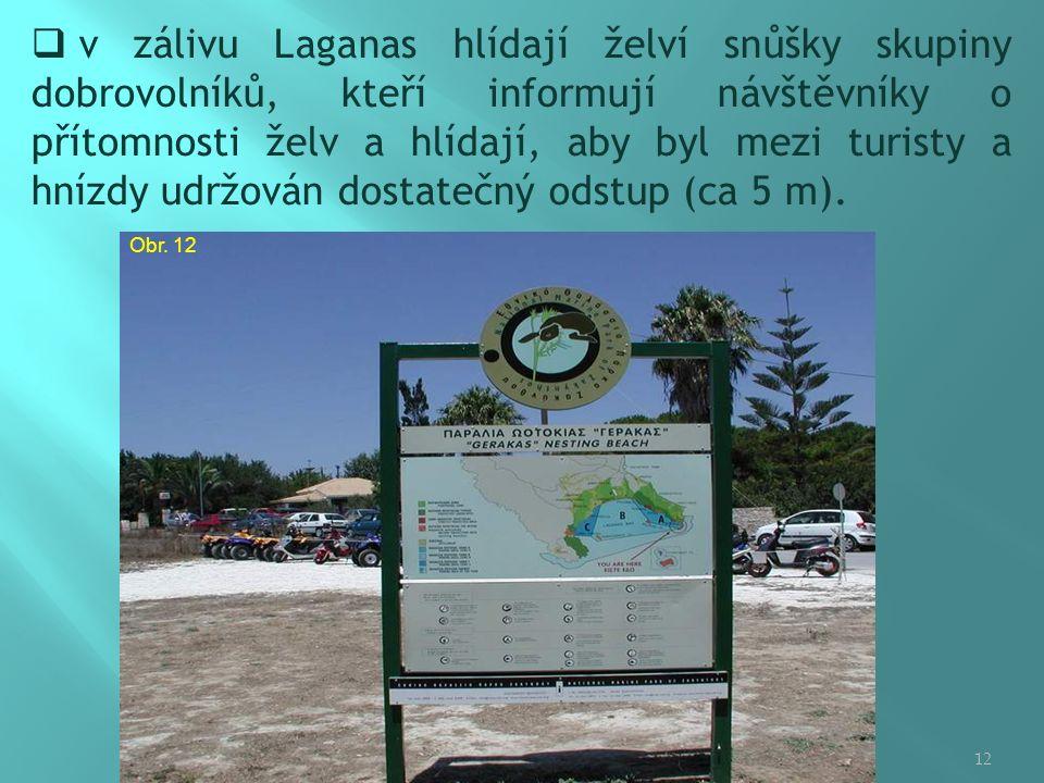  v zálivu Laganas hlídají želví snůšky skupiny dobrovolníků, kteří informují návštěvníky o přítomnosti želv a hlídají, aby byl mezi turisty a hnízdy udržován dostatečný odstup (ca 5 m).