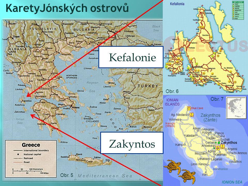KaretyJónských ostrovů Kefalonie Zakyntos 7 Obr. 5 Obr. 6 Obr. 7