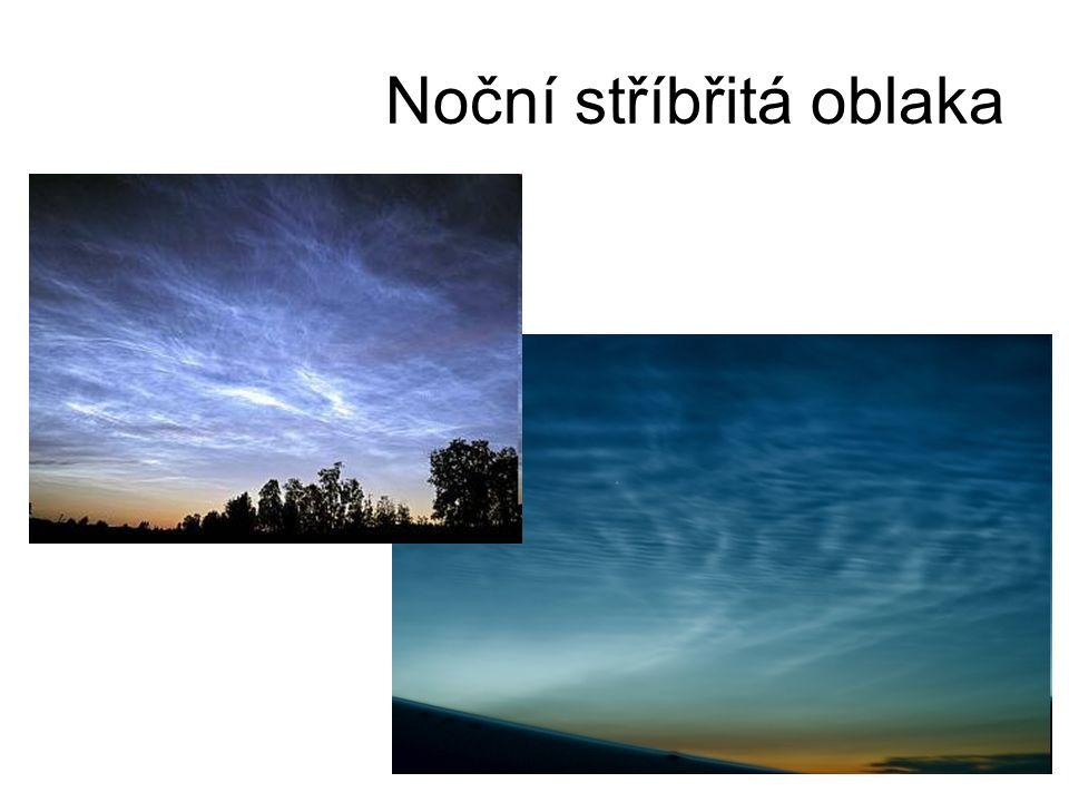 Noční stříbřitá oblaka
