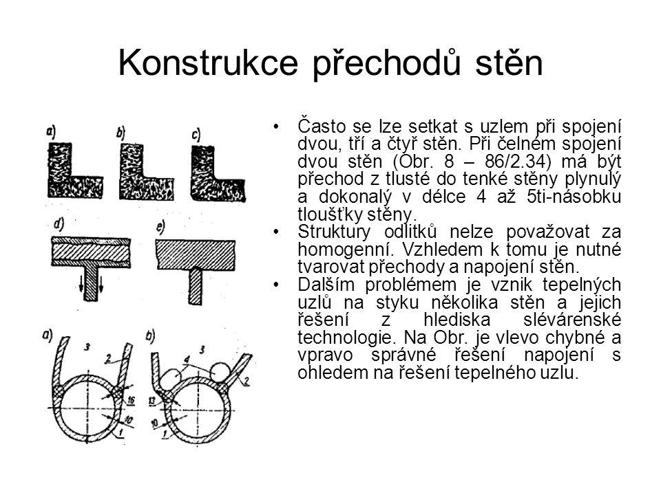 Konstrukce přechodů stěn Často se lze setkat s uzlem při spojení dvou, tří a čtyř stěn. Při čelném spojení dvou stěn (Obr. 8 – 86/2.34) má být přechod