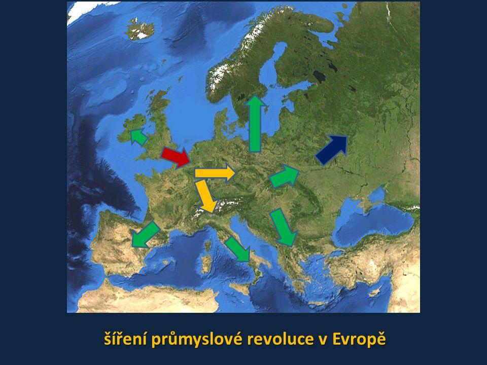 šíření průmyslové revoluce v Evropě