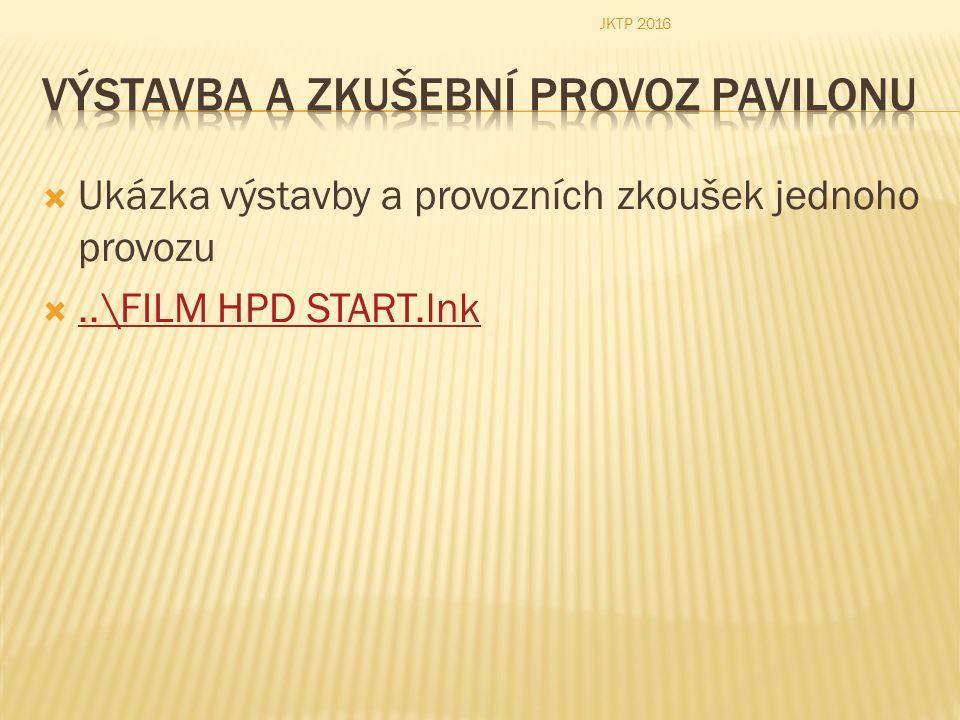  Ukázka výstavby a provozních zkoušek jednoho provozu ..\FILM HPD START.lnk..\FILM HPD START.lnk JKTP 2016