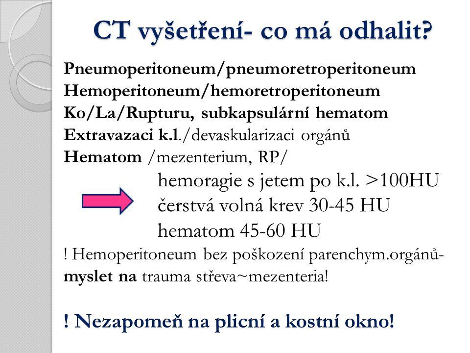 CT vyšetření- co má odhalit CT vyšetření- co má odhalit