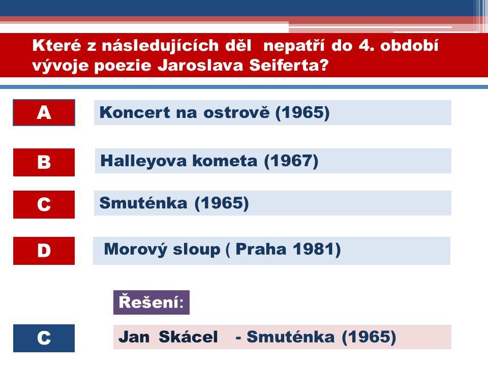Morový sloup ( Praha 1981) Které z následujících děl nepatří do 4.