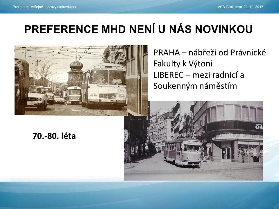 PREFERENCE MHD NENÍ U NÁS NOVINKOU Preference veřejné dopravy v intravilánu VOD Bratislava 22.