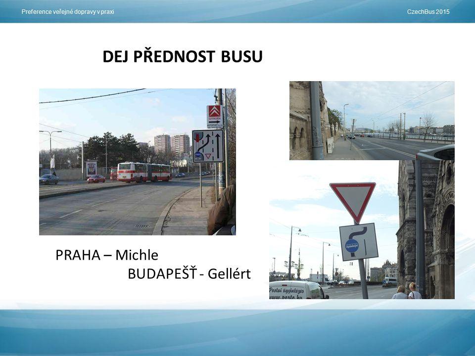 Preference veřejné dopravy v praxi CzechBus 2015 DEJ PŘEDNOST BUSU PRAHA – Michle BUDAPEŠŤ - Gellért