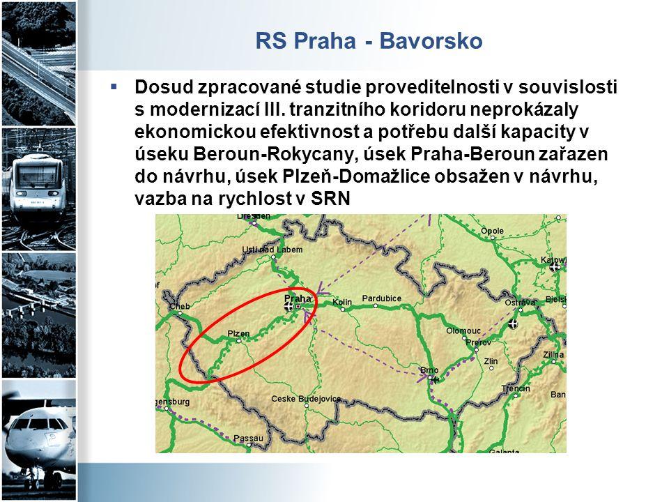 RS Praha - Bavorsko  Dosud zpracované studie proveditelnosti v souvislosti s modernizací III.