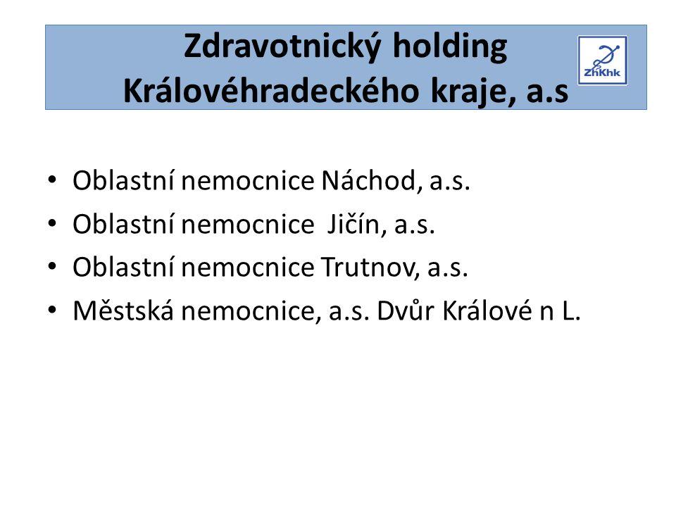 Zdravotnický holding Královéhradeckého kraje, a.s Oblastní nemocnice Náchod, a.s.