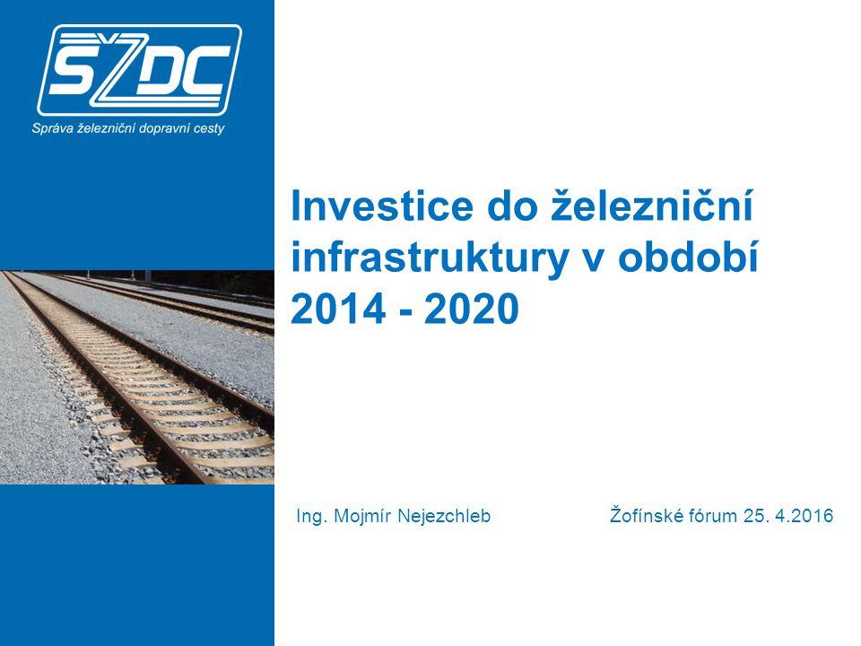 Investice do železniční infrastruktury v období 2014 - 2020 Ing.