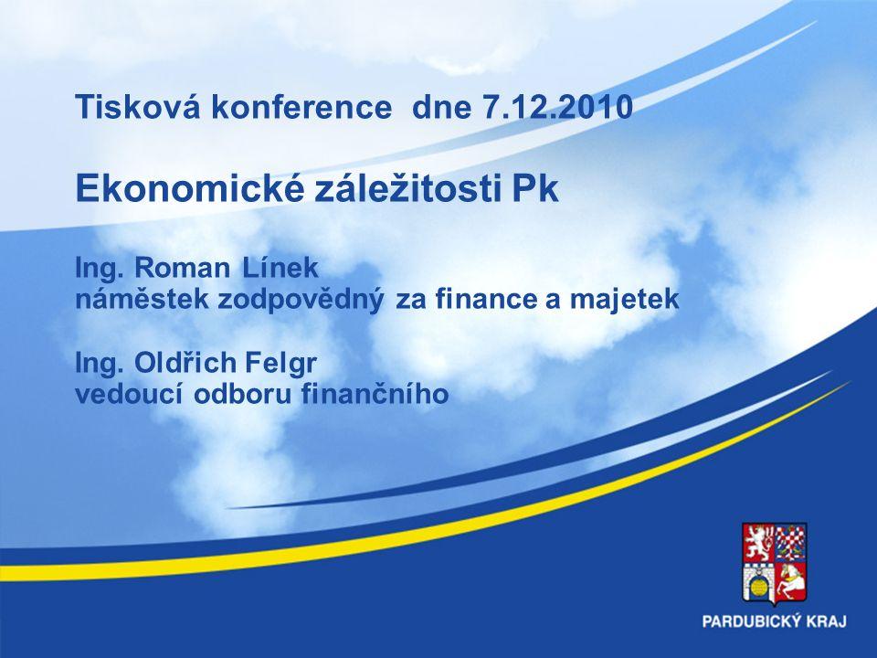 Tisková konference dne 7.12.2010 Ekonomické záležitosti Pk Ing.