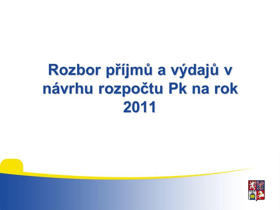 Rozbor příjmů a výdajů v návrhu rozpočtu Pk na rok 2011