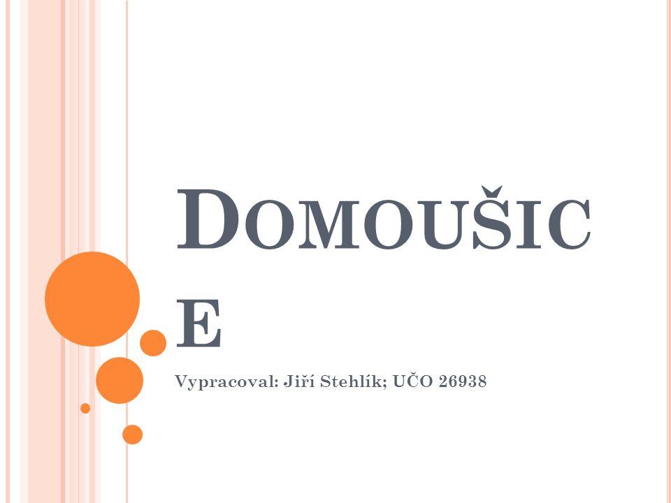 D OMOUŠIC E Vypracoval: Jiří Stehlík; UČO 26938
