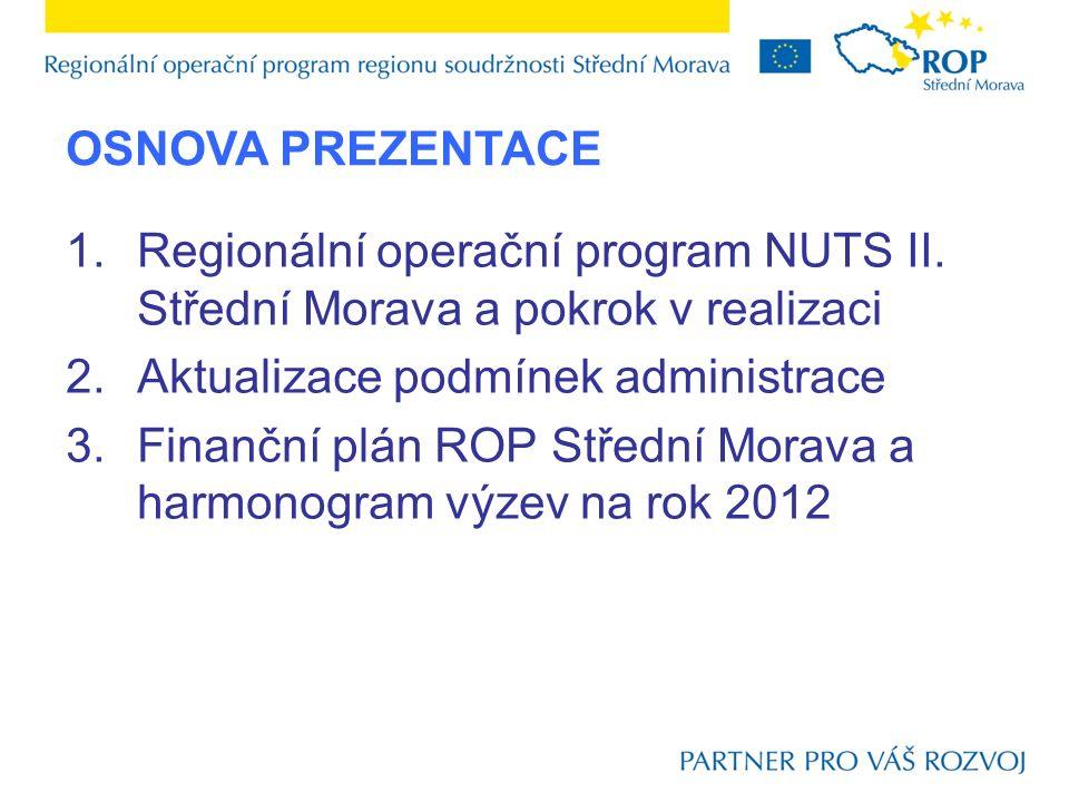 5.Návrh úpravy kritérií pro výběr projektů Na zasedání Monitorovacího výboru ROP Střední Morava dne 13.