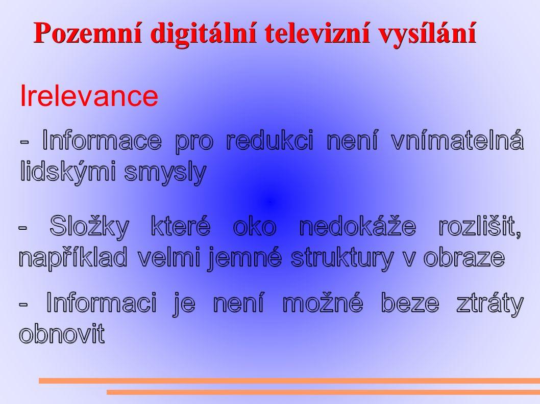 Pozemní digitální televizní vysílání Pozemní digitální televizní vysílání Irelevance