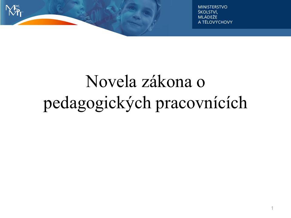 1 Novela zákona o pedagogických pracovnících