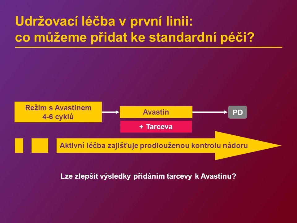 Udržovací léčba v první linii: co můžeme přidat ke standardní péči? + Tarceva Lze zlepšit výsledky přidáním tarcevy k Avastinu? Režim s Avastinem 4-6
