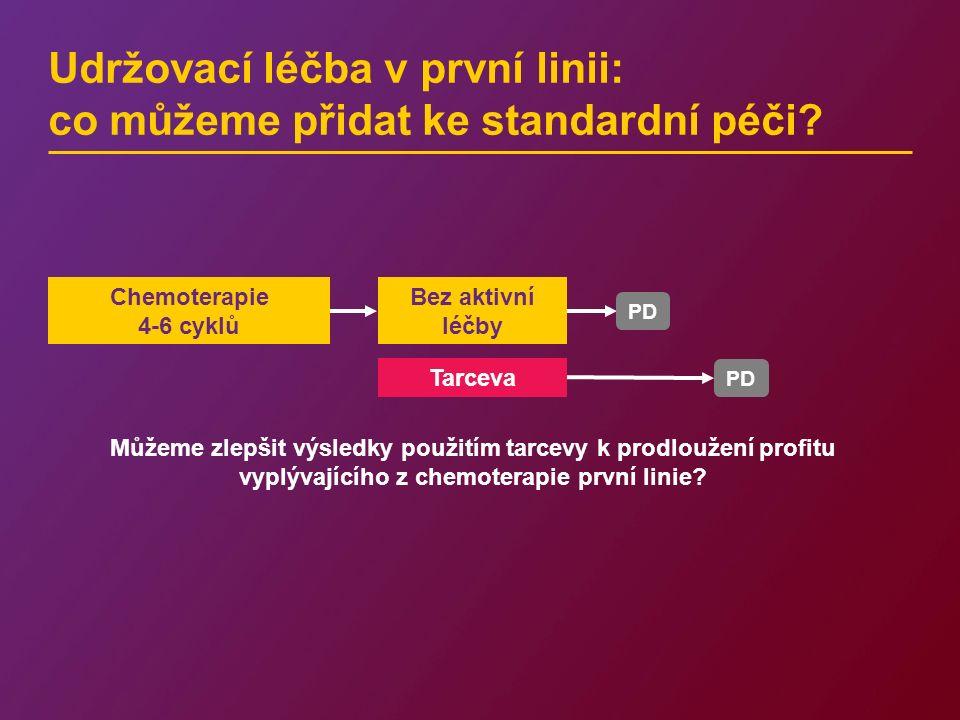 Udržovací léčba v první linii: co můžeme přidat ke standardní péči? PD Tarceva Můžeme zlepšit výsledky použitím tarcevy k prodloužení profitu vyplývaj