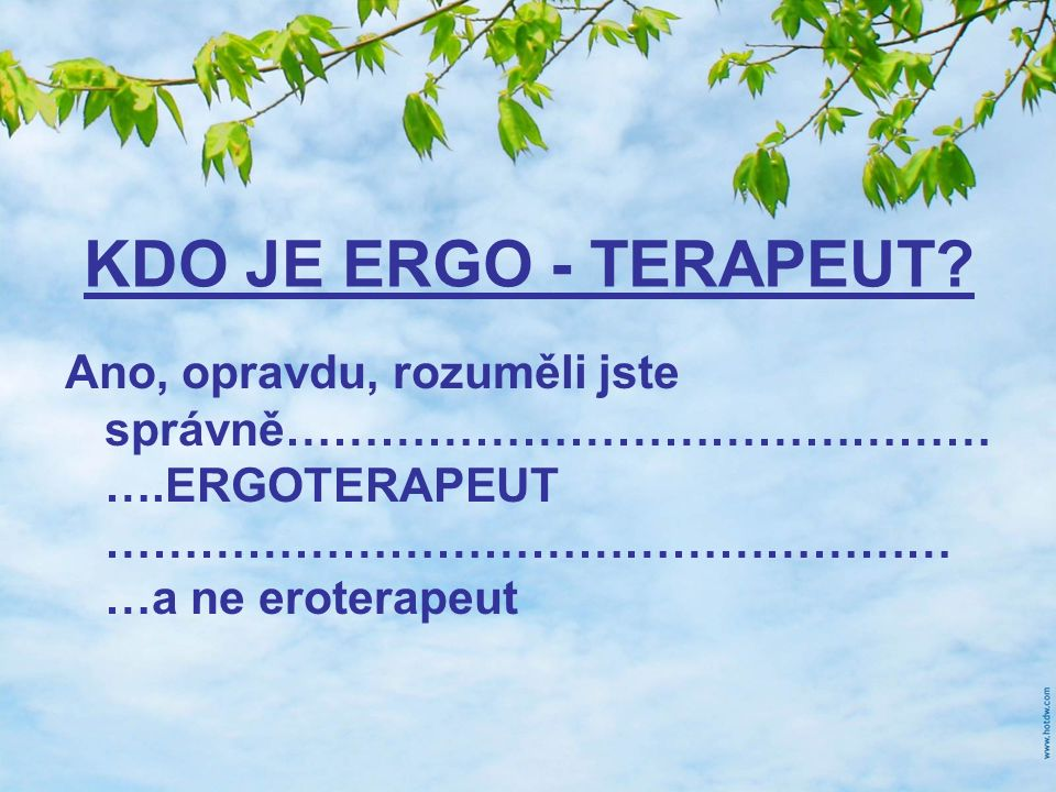 KDO JE ERGO - TERAPEUT.