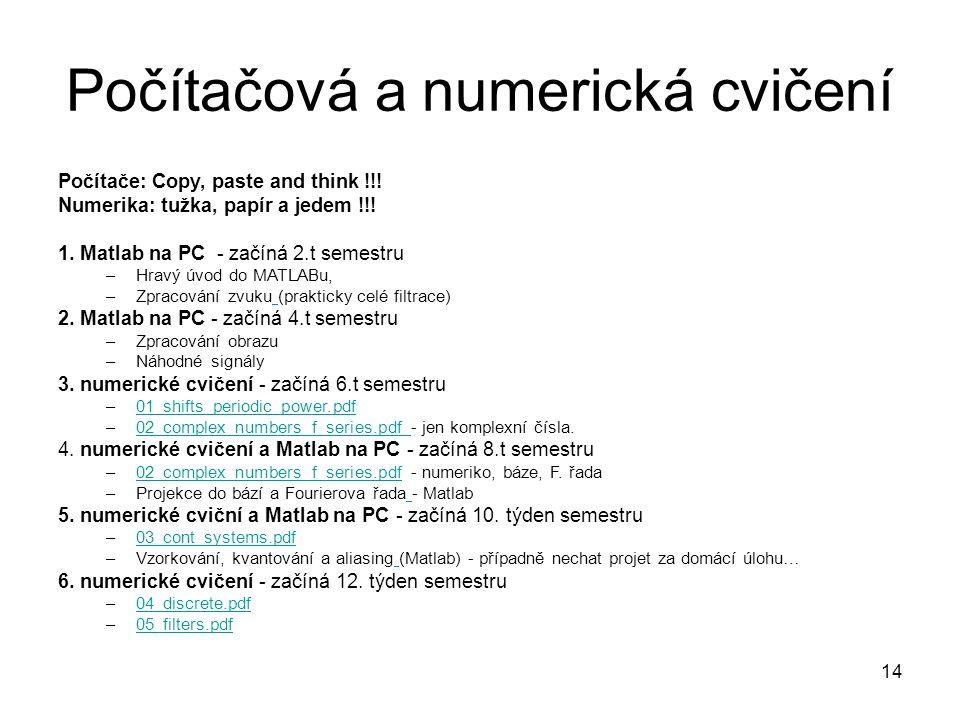 Počítačová a numerická cvičení Počítače: Copy, paste and think !!.