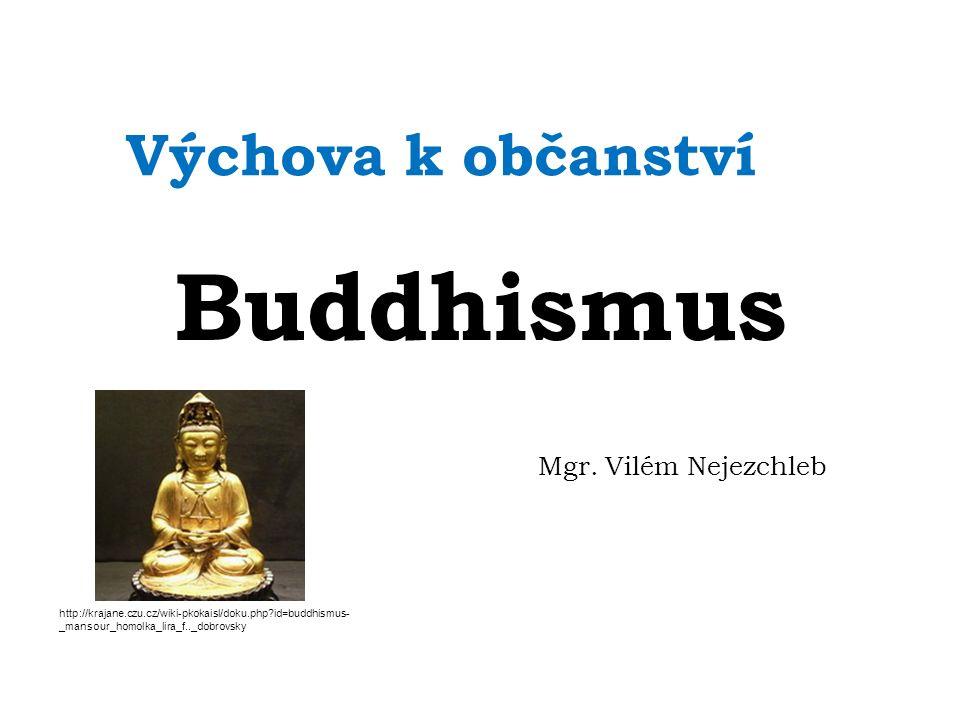 Buddhismus Buddhismus vznikl v Indii(5.stol.