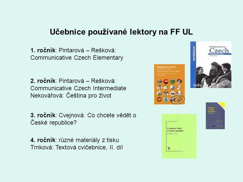 Učebnice používané lektory na FF UL 1.