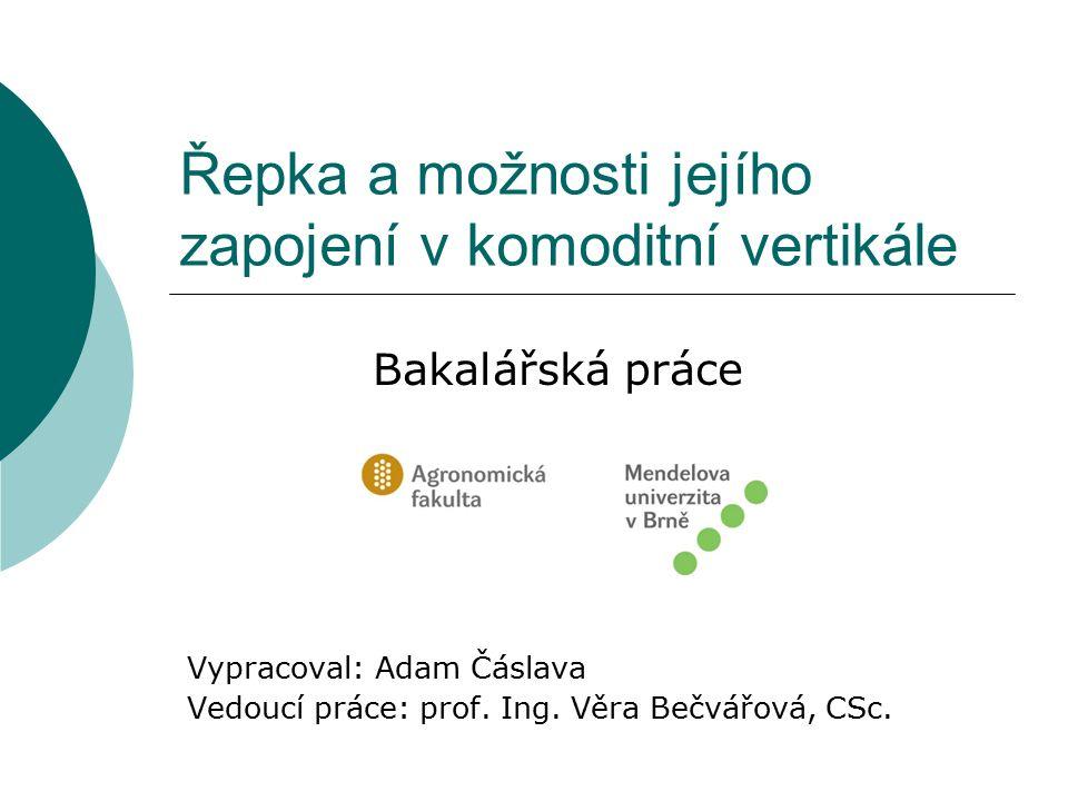 Charakteristika komodity (Brassica Napus L.var.