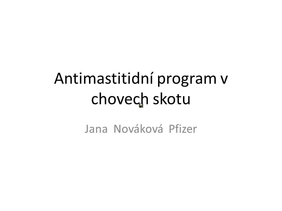 Antimastitidní program v chovech skotu Jana Nováková Pfizer