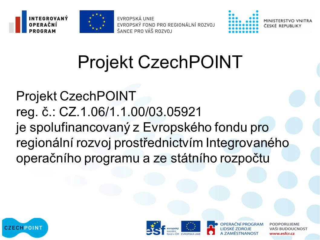 Projekt CzechPOINT reg.