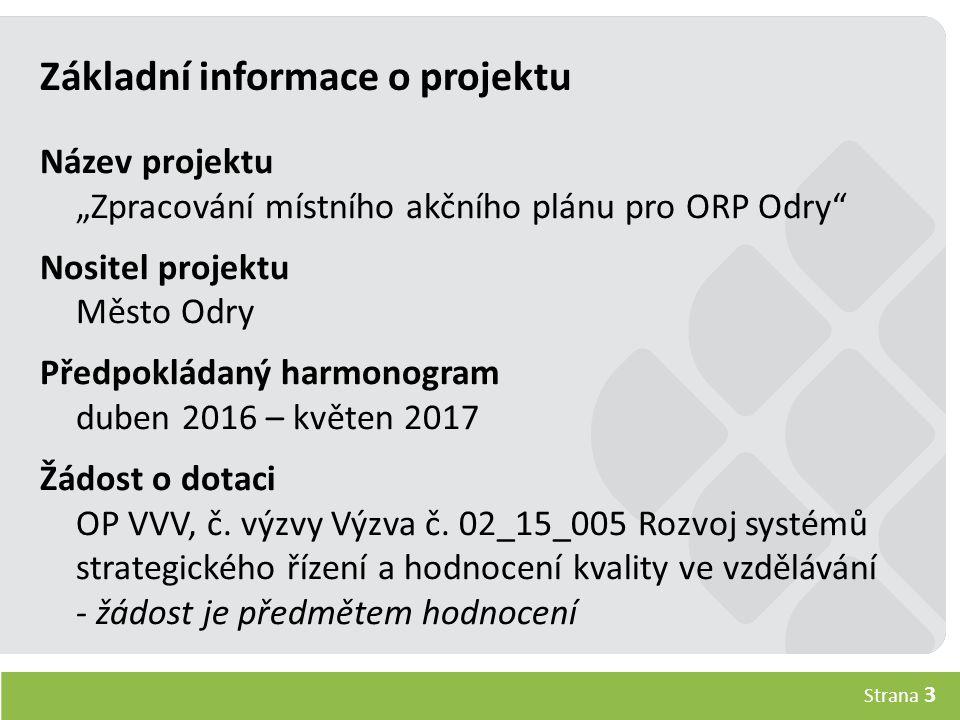 Strana 4 Realizační tým Hlavní projektový manažerMetodik Ing.