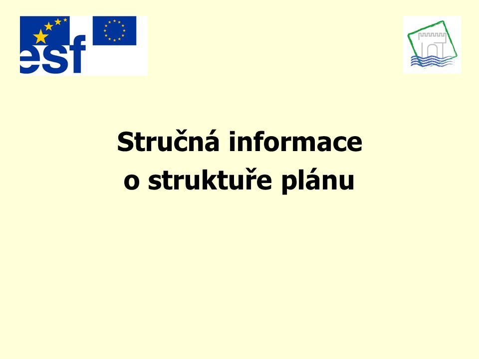 Stručná informace o struktuře plánu
