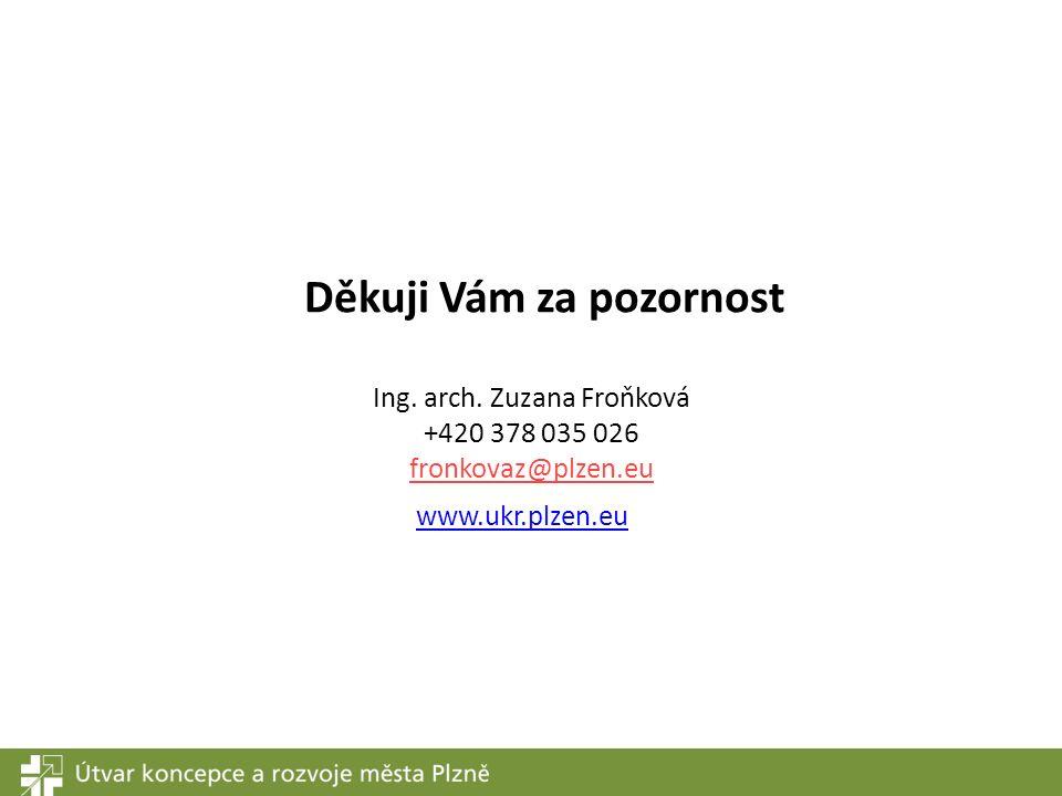www.ukr.plzen.eu Ing. arch. Zuzana Froňková +420 378 035 026 fronkovaz@plzen.eu Děkuji Vám za pozornost