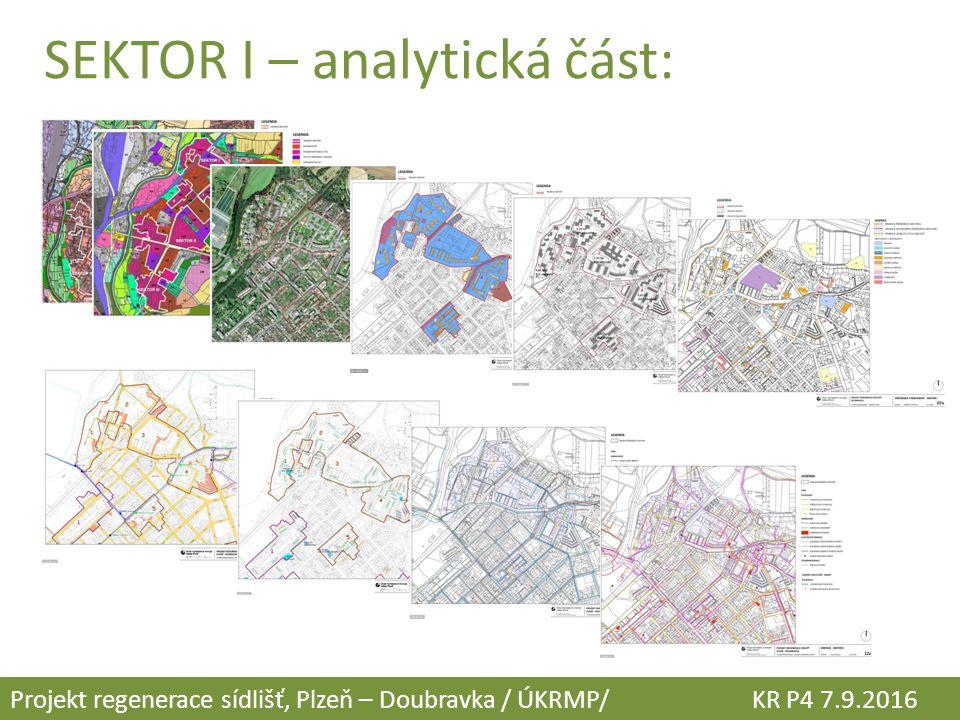 SEKTOR I – analytická část: Projekt regenerace sídlišť, Plzeň – Doubravka / ÚKRMP/ KR P4 7.9.2016