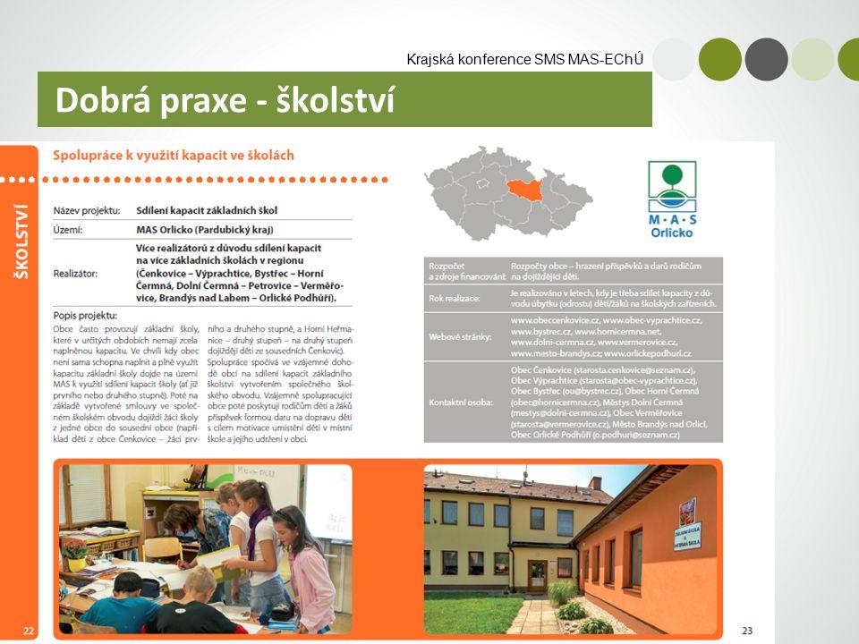 Krajská konference SMS MAS-EChÚ Dobrá praxe - školství