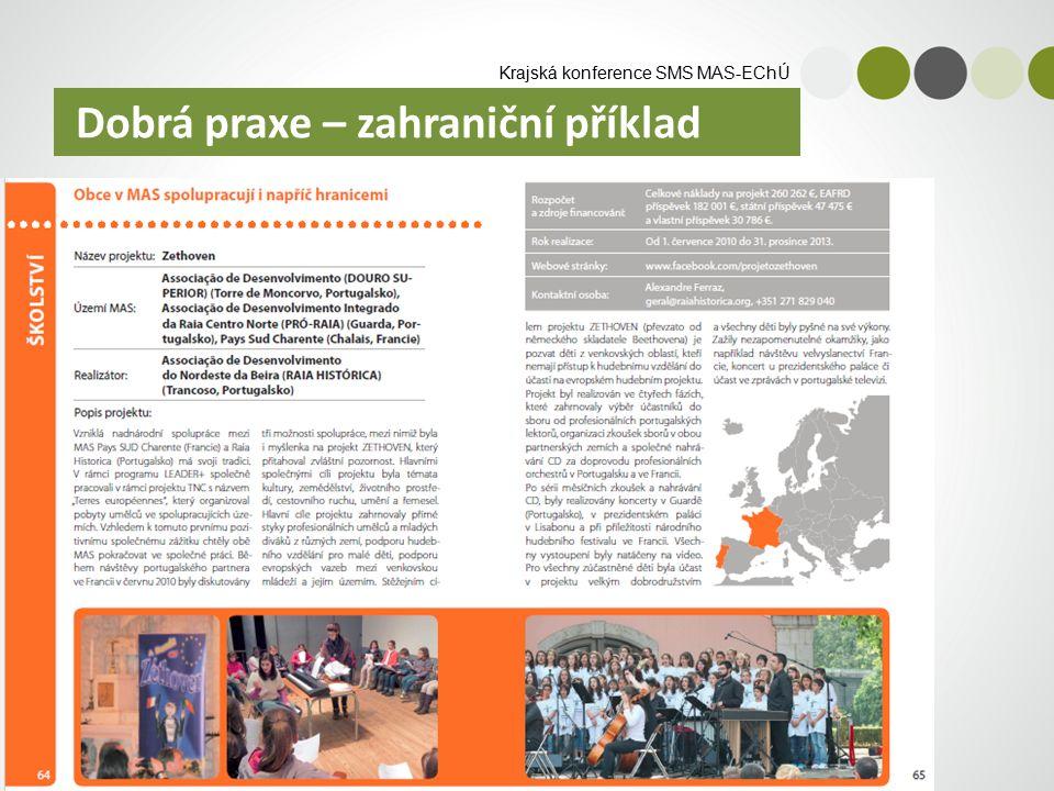 Krajská konference SMS MAS-EChÚ Dobrá praxe – zahraniční příklad